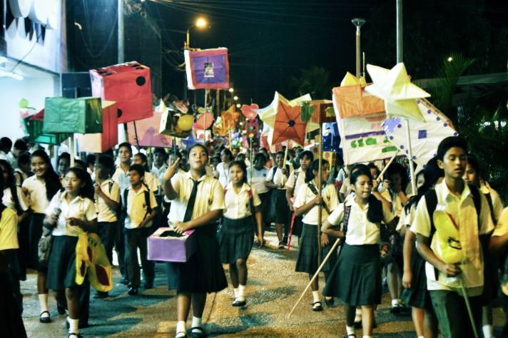 Students in Puerto Maldonado commemorate International Day Against Sexual Exploitation and Human Trafficking, September 23.