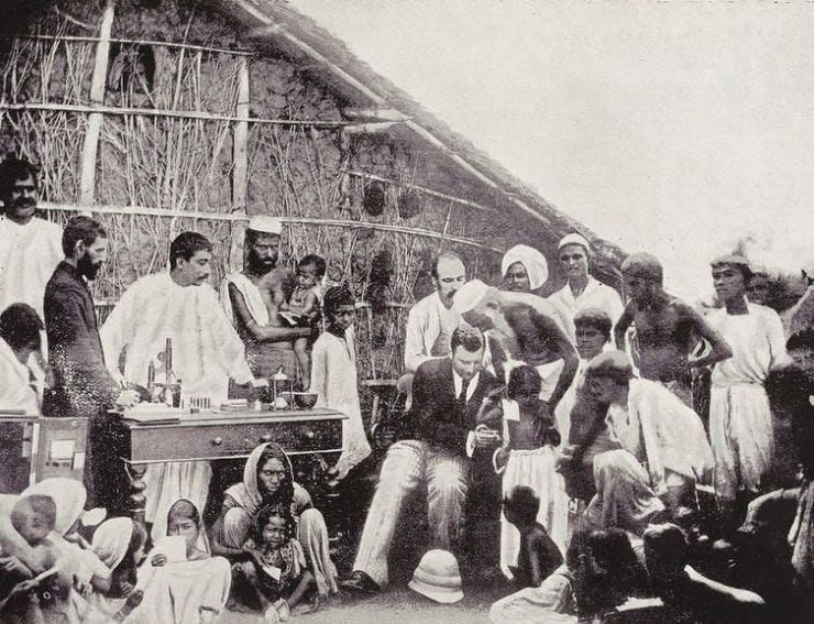Anti-cholera inoculation in Calcutta in 1894.